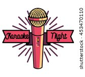 color vintage karaoke emblems | Shutterstock .eps vector #453470110