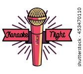 Color Vintage Karaoke Emblems