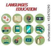 languages education flat icon...