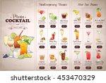 front drawing horisontal... | Shutterstock .eps vector #453470329