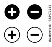 plus and minus icons. | Shutterstock .eps vector #453471166