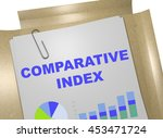 "3d illustration of ""comparative ... | Shutterstock . vector #453471724"