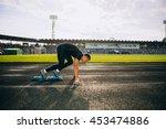 sprinter leaving starting... | Shutterstock . vector #453474886