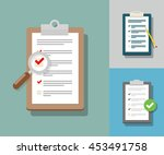 survey illustration. checklist... | Shutterstock .eps vector #453491758