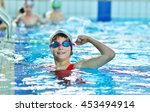 happy children kids group at... | Shutterstock . vector #453494914