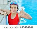 happy children kids group at... | Shutterstock . vector #453494944