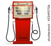 red petrol station in usa | Shutterstock .eps vector #453495706