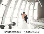 perfect couple bride  groom... | Shutterstock . vector #453504619