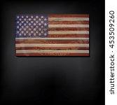 vintage wooden american flag... | Shutterstock .eps vector #453509260