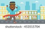 an african american businessman ... | Shutterstock .eps vector #453515704