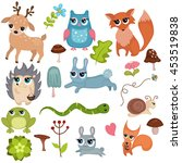 forest animals vector set of... | Shutterstock .eps vector #453519838