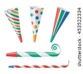 party horn vector illustration
