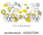 teamwork  people team   on... | Shutterstock .eps vector #453527269