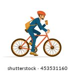 cool male businessman  riding... | Shutterstock .eps vector #453531160