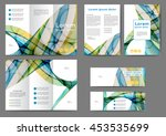 set of color abstract brochure... | Shutterstock .eps vector #453535699