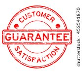 grunge red guarantee and... | Shutterstock .eps vector #453541870