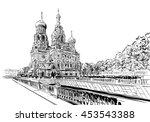 russia. saint petersburg.savior ... | Shutterstock .eps vector #453543388