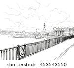russia. saint petersburg.... | Shutterstock .eps vector #453543550
