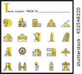 travel element line icon set 10....
