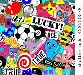 stickers funny characters ... | Shutterstock .eps vector #453550078