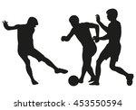 soccer vector silhouette | Shutterstock .eps vector #453550594