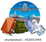 illustration of concept travel... | Shutterstock .eps vector #453551944