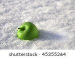 An Apple On Snow