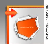 ripped paper with german text ... | Shutterstock . vector #453559489