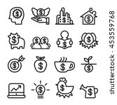 investment icon set    in thin... | Shutterstock .eps vector #453559768