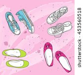 your shoes  my sneakers and...   Shutterstock .eps vector #453560518