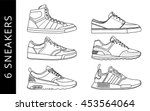 6 cool sneakers  vector  icon ... | Shutterstock .eps vector #453564064