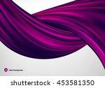 Purple Silk Or Satin Fabric On...