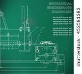 mechanical engineering drawings ...   Shutterstock .eps vector #453581383