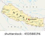Nepal Political Map With...