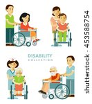 disability persons set. young... | Shutterstock .eps vector #453588754