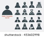 people and occupation icon set... | Shutterstock .eps vector #453602998