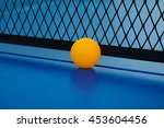 yellow ball hits the bottom of... | Shutterstock . vector #453604456