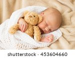 infant sleeping together with... | Shutterstock . vector #453604660