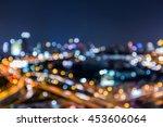 blurred bokeh light night view  ... | Shutterstock . vector #453606064