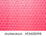 Small photo of Pink Bubble Wrap Packing Or Air Cushion Film Abstract Horizontal Texture For Creative Art Work Background
