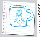 businesswoman mug design | Shutterstock .eps vector #453608950