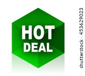 hot deal cube icon  green... | Shutterstock . vector #453629023