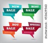web sale banner | Shutterstock .eps vector #453629560