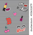 fashion cute patch badges. for... | Shutterstock .eps vector #453631879