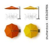 vector set of orange yellow...   Shutterstock .eps vector #453638986