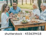 spending time with family.... | Shutterstock . vector #453639418