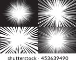 four backgrounds of radial... | Shutterstock .eps vector #453639490