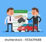 approved car loan illustration. ... | Shutterstock . vector #453639688