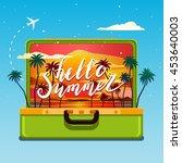 concept of travel. hello ... | Shutterstock .eps vector #453640003