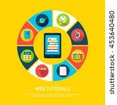 web tutorials flat infographic... | Shutterstock .eps vector #453640480